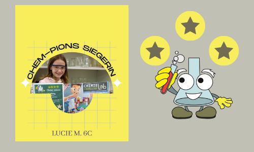 Gratulation an Chem-pions-Siegerin – Landeswettbewerb Chemie