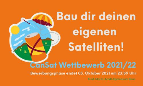 Erlebe alle Phasen einer Raumfahrtmission: Aufruf zum 8. Deutschen CanSat-Wettbewerb 2021/22
