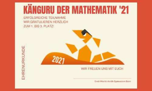 Unsere erfolgreiche Teilnahme am Känguru-Wettbewerb 2021!